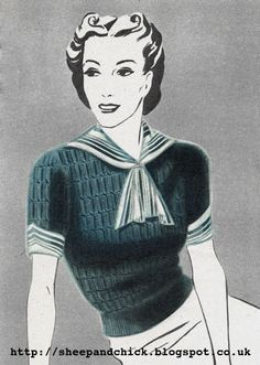 The Vintage Pattern Files: 1930's Knitting - Chic Ahoy!