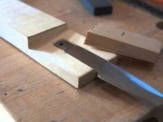 Opinel knife mod - Northwest Coast carving knife from folding blade