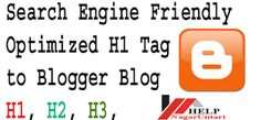 How to show the H1 missing Tag from the Home page Title of blog