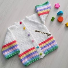 Good morning – I wish everyone a nice and healthy weekend. Baby Cardigan Knitting Pattern Free, Kids Knitting Patterns, Baby Sweater Patterns, Knit Baby Sweaters, Toddler Sweater, Knitted Baby Clothes, Knitting For Kids, Knitting Designs, Baby Patterns