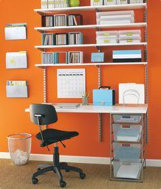 Max 39 S Desk On Pinterest Elfa Shelving Small Desk Space