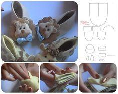Come fare babbucce in feltro per bimbi con animaletti Tutorial e Cartamodelli Gratis #sewing #diy #pattern #kids