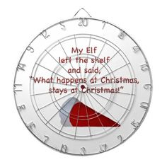 What happens at Christmas stays at Christmas Dartboard