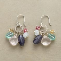 SPRING BOUQUET EARRINGS--I should make a pair of these just to see how they look on me.