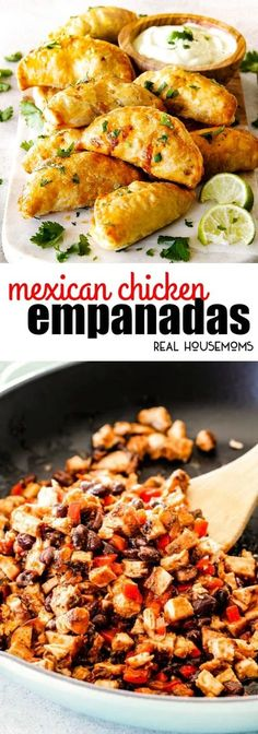 Mexican Chicken Empanadas are an irresistible appetizer, dinner, or snack that can be made ahead of time and frozen for later! Mexican Chicken Empanadas are an irresistible appetizer, dinner, or snack that can be made ahead of time and frozen for later! Mexican Cooking, Mexican Food Recipes, Snack Recipes, Cooking Recipes, Real Mexican Food, Chicken Empanadas, Mexican Empanadas, Chicken Chorizo, Chicken Tacos