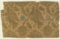Textile Date: 14th century Geography: Made in Lucca, Italy Culture: Italian Medium: Silk, metal thread Accession Number: 46.156.44