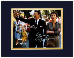 Tom Hanks As Walt Disney & Emma Thompson As P.L. Travers in Saving Mr. Banks Autographed 8x10 Photo Matted to 11x14 Size:Amazon:Collectibles