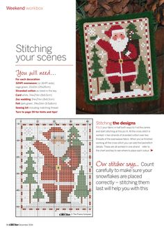 Cross Stitch Collection December 2014 : Free Download, Borrow, and Streaming : Internet Archive Santa Cross Stitch, Cross Stitch Samplers, Cross Stitch Kits, Counted Cross Stitch Patterns, Cross Stitch Designs, Cross Stitching, Cross Stitch Embroidery, Embroidery Patterns, Hand Embroidery