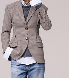 new ideas for how to wear blazer with jeans casual jackets Style Work, Mode Style, Style Me, Style Casual, Casual Man, Classic Style, Smart Casual, Fashion Mode, Work Fashion