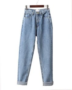 Light Blue High Waist Boyfriend Loose Jeans DT0400017