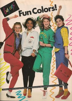 Crayons Clothes Ad in Teen Magazine August 1985 Fashion Crayons Clothes Ad in Teen Magazine August 1985 Fashion 1987 Fashion, 1980s Fashion Trends, 80s And 90s Fashion, Teen Fashion, Retro Fashion, Vintage Fashion, 80s Trends, Socks Outfit, 80s Design