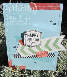 ★Birthday Chevrons★ - AWW Aug 1 | Jane Lee http://janeleescards.blogspot.com
