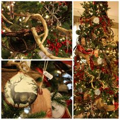 Masculine Christmas Tree our christmas tree with a wildlife theme and antlers   christmas