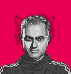 Portrait illustrations of the big six coach of Premier League Caricature, Avatar, Big Six, Portrait Illustration, Manchester United, Premier League, Unique Art, Artwork, Graphic Art