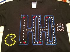 100th day of school Pac-man shirt. (100 little Pom-poms)
