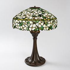 """DogWood"" Tiffany Lamp Table Lamps Tiffany Lamps Antique Tiffany Lamps Tiffany Lamps Art Nouveau"
