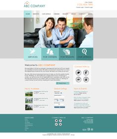 property management website templates
