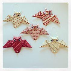 Origami ugle i skønne farver.