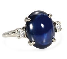 Oh my.... Star Light: Sapphire Diamond Ring (Yes, I've been a bit obsessed with antique jewels as of late...)