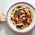 Bacon and Shrimp Pasta Toss Recipe | MyRecipes.com, but use gluten free pasta.