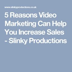 5 Reasons Video Mark