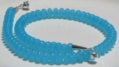 Ocean Blue Chalcedony Necklace with Sterling Silver by NLisetteAZ, $50.00