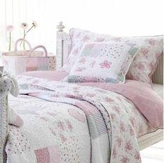 Colchas de patchwork en dormitorios   Estilo Escandinavo