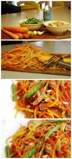 Rainbow Stir Fry - Grain free - A great fun way to get your kids (and you) to eat. your. veggies!