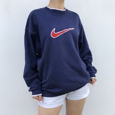 ab98b963d Listed on Depop by dariabeyger. UNISEX VINTAGE NIKE SWEATSHIRT Embroidered  logo Size ...