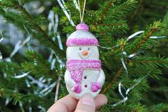 Snowman christmas ornament  Holiday decor Winter snowmen  Xmas Winter wedding Christmas decorations Ecofriendly  Nature inspired Hade made