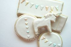 Unicorn cookies for party favors? Daydream Series. $56.00, via Etsy.