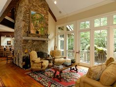 Rustic living room in Plan 082S-0004 | House Plans and More