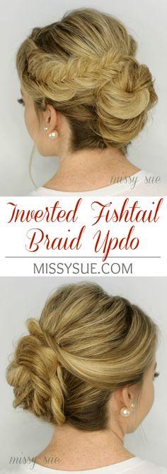 Inverted Fishtail Braid Updo