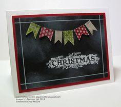Turtle Creations: Chalkboard Technique - Seasonal Sayings - Washi Tape - Stampin' Up!