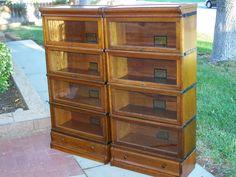 "25"" 3/4 size Globe Wernicke Bookcase set"