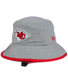 New Era Kansas City Chiefs Nfl Heather Gray Bucket Hat Hat Men e2f7665d6016