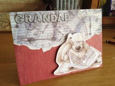 Grandad card - any occasion - hand made card