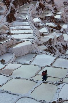 Salt evaporation ponds in Maras, Cusco, Peru
