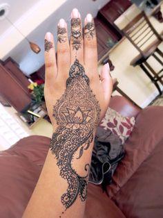 Lotus flower henna tattoo design done by myself