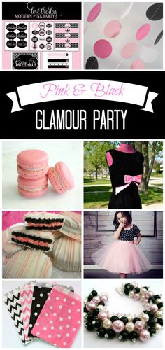 Inspiration: 36 Pink and Black Glamour Party Ideas