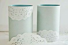 For my pegboard one day! Doilies Crafts, Paper Doilies, Tin Can Crafts, Diy Home Crafts, Diy Para A Casa, Recycle Cans, Creation Deco, Diy Tutorial, Pots