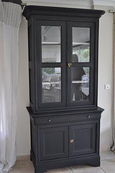 Bois Et Patines Nathalie Madrenes Buffet Patine Noir Peinture Meuble Bois Meuble Noir Mat Relooking Meuble Ancien
