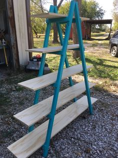 Ladder Shelf Shelf Display Craft Show Cascade Booth Cascade Ladder Shelf Bookshelf Storage Arts And Crafts Projects, Home Crafts, Wood Projects, Simple Projects, Diy Crafts, Bookshelf Storage, Display Shelves, Ladder Bookshelf, Book Shelves