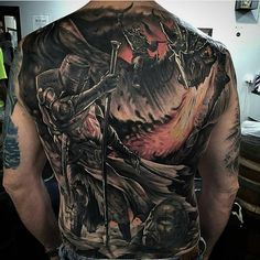 "3,298 Likes, 41 Comments - @ink.ig on Instagram: ""Artist: @josh_sara_. Amazing back piece by @josh_sara_. . #inkig #ink_ig #tattoo #tattoos #art…"""
