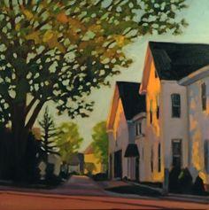 """Huntington Street, Summer Evening"" by Melissa Anne Miller (oil on canvas, $3600)"