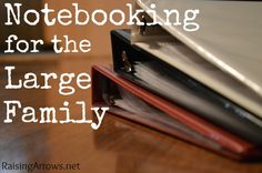 Having a large family myself, and also loving the notebooking method, this really caught my eye! Notebooking for the Large Family - Raising ArrowsRaising Arrows Homeschool High School, Homeschool Curriculum, Homeschooling Resources, Preschool Activities, Children Activities, Preschool Learning, Home Schooling, Teaching Science, Organization