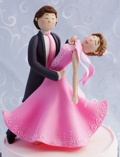 Fondant ballroom dancers 100% edible by Kelly's Cake Toppers