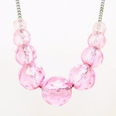 Sterling Crystal Bead Chain Necklace