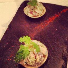 Amuse bouche Chicken Salad @ Roux at The Landau, Langham Hotel London