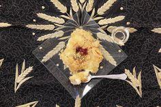 Knafeh de queso.  Ver receta.